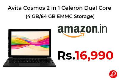 Avita Cosmos 2 in 1 Celeron Dual Core Laptop @ 16,990 - Amazon India