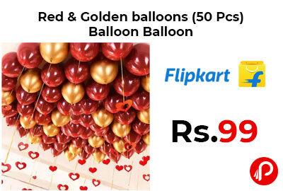 Red & Golden balloons (50 Pcs) Balloon Balloon @ 99 - Flipkart