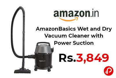 AmazonBasics Wet and Dry Vacuum Cleaner with Power Suction @ 3,849 - Amazon India