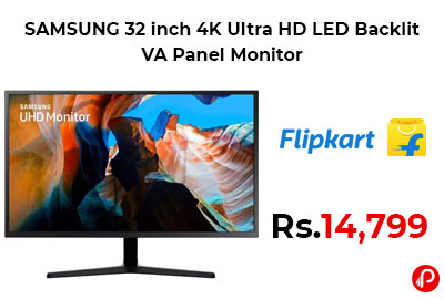 SAMSUNG 32 inch 4K Ultra HD LED Backlit VA Panel Monitor @ 14,799 - Flipkart