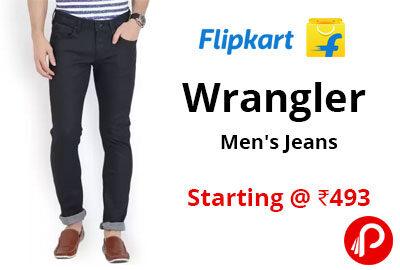 Wrangler Men's Jeans Starting @ 493 - Flipkart