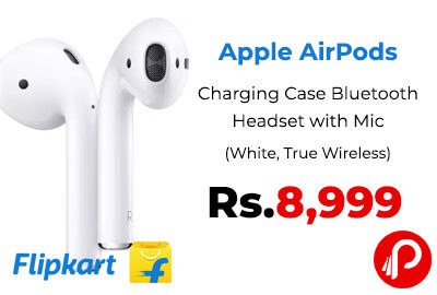 Apple AirPods with Charging Case Bluetooth Headset @ 8,999 - Flipkart