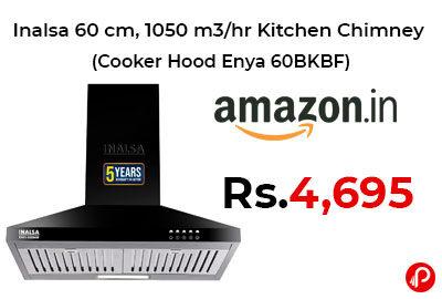 Inalsa 60 cm, 1050 m3/hr Kitchen Chimney @ 4,695 - Amazon India