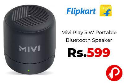 Mivi Play 5 W Portable Bluetooth Speaker @ 599 - Flipkart