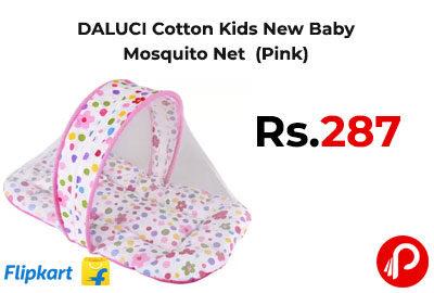DALUCI Cotton Kids New Baby Mosquito Net (Pink) @ 287 - Flipkart