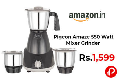 Pigeon Amaze 550 Watt Mixer Grinder @ 1,599 - Amazon India