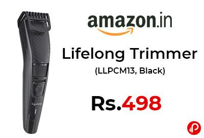 Lifelong Trimmer (LLPCM13, Black) at 498 - Amazon India