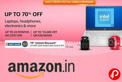 Upto 70% off on Electronics - Amazon India