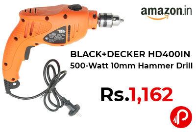 BLACK+DECKER HD400IN 500-Watt 10mm Hammer Drill @ 1,162 - Amazon India