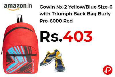 Gowin Nx-2 Yellow/Blue Size-6 with Triumph Back Bag @ 403 - Amazon India