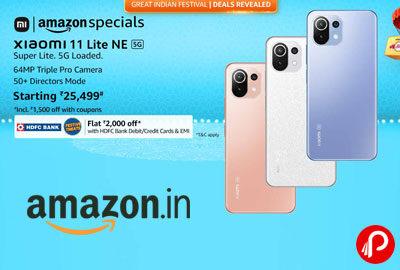 Xiaomi 11 Lite NE 5G @ 26999 - Amazon India