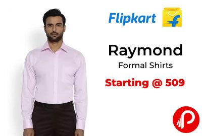 Raymond Formal Shirts @ 509 - Flipkart