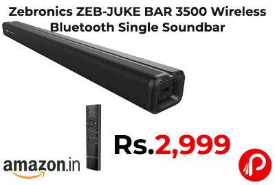 Zebronics ZEB-JUKE BAR 3500 Wireless Bluetooth Single Soundbar @ 2,999 - Amazon India
