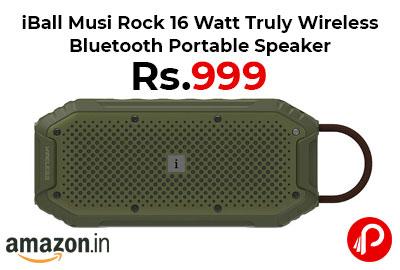iBall 16 Watt Wireless Bluetooth Portable Speaker @ 999 - Amazon India