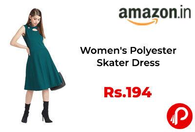 Women's Polyester Skater Dress @ 194 - Amazon India