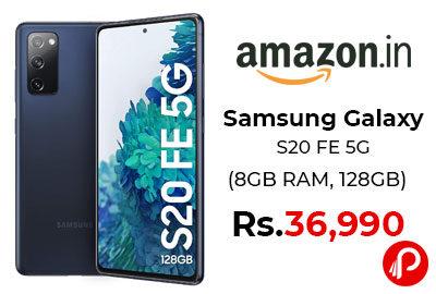 Samsung Galaxy S20 FE 5G (8GB RAM, 128GB Storage) @ 36,990 - Amazon India