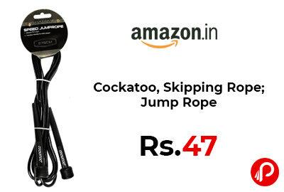 Cockatoo, Skipping Rope; Jump Rope @ 47 - Amazon India
