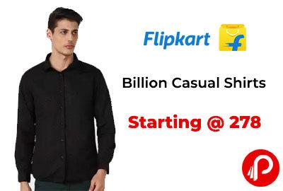 Billion Casual Shirts Starting @ 278 - Flipkart