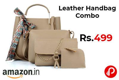 Leather Handbag Combo (set of 4) @ 499 - Amazon India