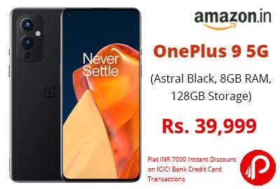 OnePlus 9 5G @ 39,999 - Amazon India