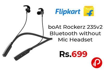 boAt Rockerz 235v2 Bluetooth without Mic Headset @ 699 - Flipkart